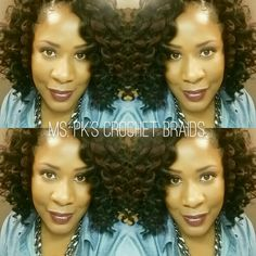 Ringlet Wand Curl by Freetress color 1b and 99 just. install by Ms.Pk's Crochet Braids located in McDonough, Ga  #protectivestyles #mspkscrochetbraids #crochetbraids