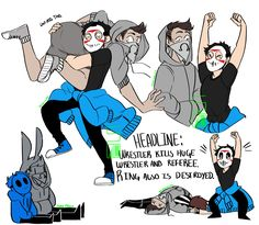 Look at this sick picture, drawn by itspetersfault on Twitter! It's made for Ohmwrecker, and H2ODelirious! :'D