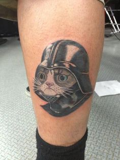 Darth Grumpy Cat tattoo