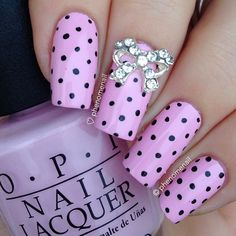 PINK WITH DOTS AND BOW