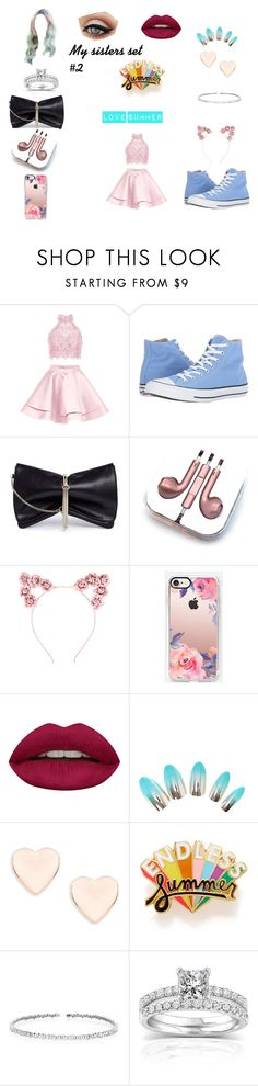 """My sisters set #2"" by i-love-cake3 ❤ liked on Polyvore featuring Alyce Paris, Converse, Jimmy Choo, PhunkeeTree, Hot Topic, Casetify, Huda Beauty, Ted Baker, ban.do and Suzanne Kalan"