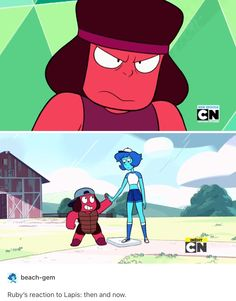 What are they talking about thta bottom one is Ruby and Bob?