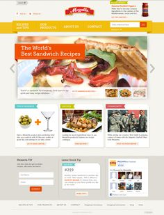 Kellemes, étvágygerjesztő fotók, és színek. Semmi extra, ez a minimum.  www.mezzetta.com