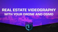 Real Estate Videography With Your Drone And Osmo! Step up your real estate game folks. Start taking great footage with your new drone. We make it easy with BUY NOW PAY LATER finance option as low as 25$ per month. Now what are you waiting for. https://www.dynnexdrones.com/