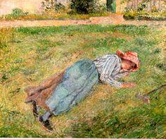 CAMILLE PISSARRO  Campesina sobre la hierba