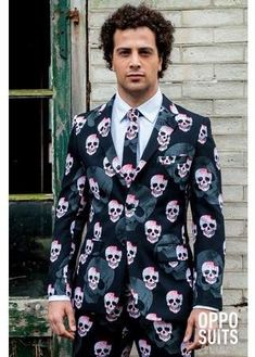 The Mens OppoSuits Halloween Skull Suit is the perfect 2019 Halloween costume for you. Show off your Mens costume and impress your friends with this top quality selection from Costume SuperCenter! Halloween Suits, Halloween Look, New Halloween Costumes, Halloween Fancy Dress, Halloween Skull, Halloween Party, Festivals, Affordable Suits, Costume Supercenter