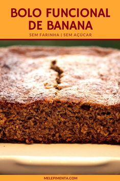 Confira a receita desse delicioso bolo funcional de banana