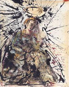 Madone à l'enfant, Salvador Dali, 1958 Galerie des Modernes #Dali