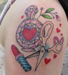Sunny Buick  girly tattoo