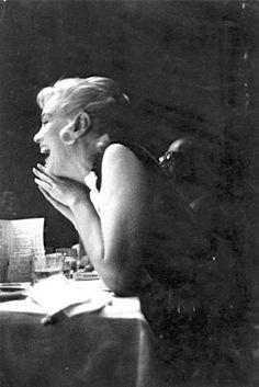Marilyn Monroe at a Frank Sinatra concert, Cal Neva Lodge, 1960