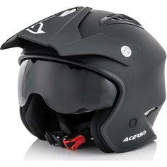 Κράνος Jet Acerbis Aria Black Matt Jet, Flip Up Helmet, Open Face Helmets, Motorcycle Outfit, Trials, Bicycle Helmet, Product Launch, Black, Motocross