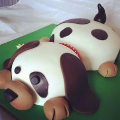 Dog cake - by Jesca @ CakesDecor.com - cake decorating website