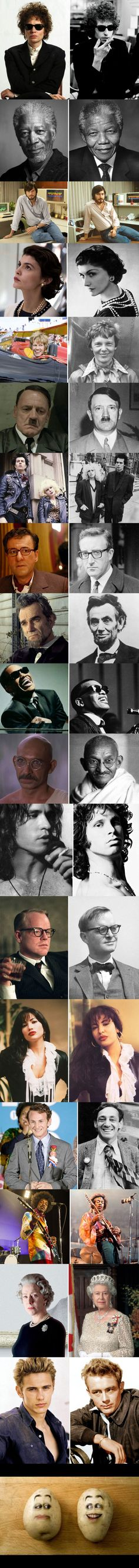 Actors Vs. Historic People They Played - 9GAG
