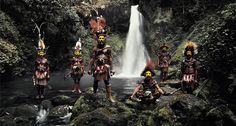 Before They Artprint XV 66, Tumbu, Hangu, Peter, Hapiya, Kati, Hengene & Steven, Huli Wigmen, Ambua Falls, Tari Valley