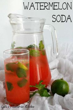 Watermelon Soda ~ Lydia's Flexitarian Kitchen