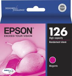 Epson - 126 High Yield Ink Cartridge - Magenta (Pink), T126320-S