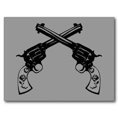 crossed six shooter pictures | ... printed with a retro image of a pair of crossed six shooter pistols