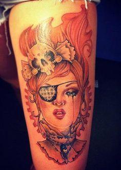 Pirate Doll Tattoo #tattoo #tattoos #ink #inked