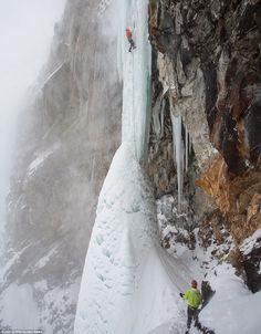 Ice climbing in Italy
