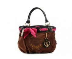 cheap - Cheap Juicy Couture Brown Handbags with Red Bowknot - Wholesale Discount Price    Tag: Discount Authentic Juicy Couture Bags Hot Sale, Cheap Juicy Couture Handbags New Arrivals, Original Juicy Couture Purses outlet, Wholesale Juicy Couture bags store