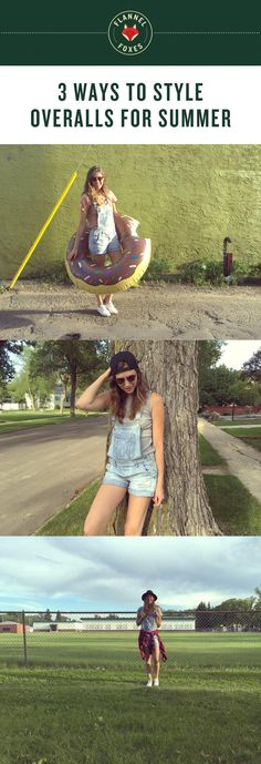 3 Ways to Style Overalls for Summer | Flannel Foxes Tomboy Fashion Blog