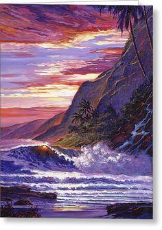 Paradise Beach Greeting Card by David Lloyd Glover