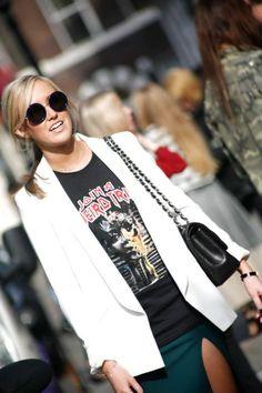 T-Shirts rockeras en Fashion Week.