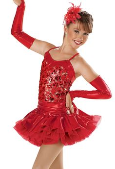Embroidered Sequin Jazz Dress; Weissman Costumes...cami's tap solo costumee Red Red Robin