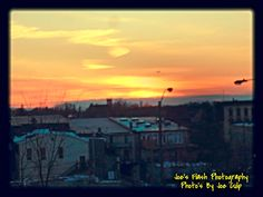 Sunset over the City of Belleville Ontario