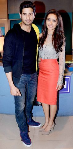 Siddharth Malhotra and Shraddha Kapoor on 'Yeh Hain Mohabbatein'. #Style #Bollywood #Fashion #Beauty