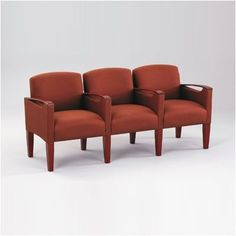 Lesro Brewster Three Seats with Center Arm Finish: Walnut, Material: Kilkenny Tweed Nightshade Vinyl