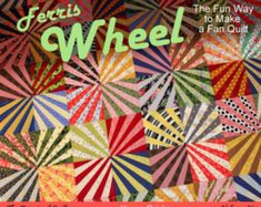 Ferris Wheel Quilt Pattern, Fan Quilt, Fun Scrap Quilt, pdf