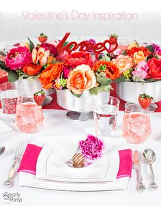 Valentine's Inspired Wedding Tablescape Ideas - Smarty Blog