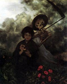 """Death and the Maiden"" by Hans Thoma c.1872"