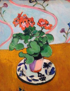 In the window--helping to brighten this long, cold winter. -Geraniums by Henri Matisse.