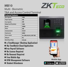 16 Best Zkteco Biometric Time Attendance Devices images in 2019