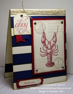 Stampin' By The Bay: Cased By the Tide Card