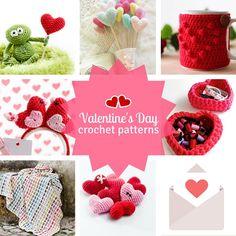 7 Valentine's Day crochet patterns that are just too cute. Valentine's Day free crochet patterns. Gratis haakpatronen Valentijnsdag | Happy in Red