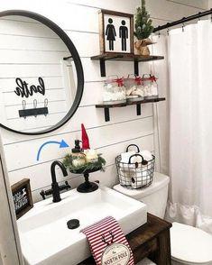 Black Mason Jar Soap Dispenser Lids / Farmhouse Bathroom Decor / DIY home decor … - Modern Diy Home Decor Rustic, Rustic Bathroom Decor, Farmhouse Decor, Urban Farmhouse, Farmhouse Bathrooms, Boho Bathroom, Country Farmhouse, French Country, Lavender Bathroom