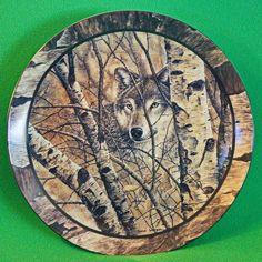 "1994 David Wenzel 'Northwoods Spirit' Collection Collector Plate, ""Woodland Retreat"""