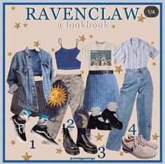 Swag Outfits For Girls, Cool Outfits, Fashion Outfits, Harry Potter Style, Harry Potter Outfits, Ravenclaw, Clothing Hacks, Aesthetic Clothes, My Outfit