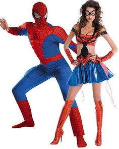 Womenu0027s Sassy Prestige Spider Girl Couples Costume - Mens Couples Halloween Costumes  sc 1 st  Pinterest & Zentai-Zentai on   Pinterest   Spiderman costume Spiderman and ...