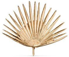 "Threshold Cast Metal Gold Palm Leaf (11.5""x10"") Threshold"