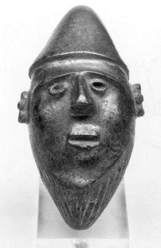 бронзовая голова 9,5смХ5см,Закавказье.Муз Метрополитан