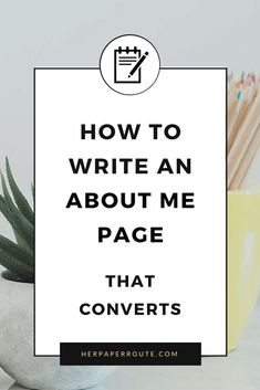 How to write and about me page that converts