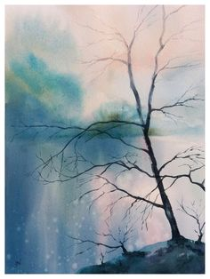 abstract landscape painting, river painting, original watercolor sunset painting by JP Wisniewski Watercolor Sunset, Watercolor Paintings, Abstract Landscape Painting, Landscape Paintings, Diamond Beach, River Painting, Arches Paper, Artwork, Images