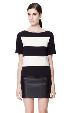 Image 1 of COMBINATION STRIPED TOP from Zara