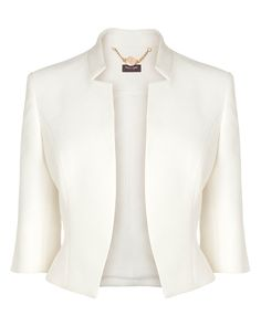 Buy Cream Phase Eight Valentine Jacket from our Women's Coats & Jackets range at John Lewis & Partners. Blazer Jackets For Women, Coats For Women, Women's Jackets, Outerwear Jackets, Lace Top Dress, Shrugs And Boleros, Latest Fashion For Women, Womens Fashion, Petite Fashion