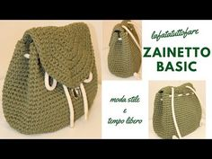 How to crochet backpack Mochila Crochet, Bag Crochet, Crochet Diy, Crochet Handbags, Crochet Purses, Crochet Crafts, Crochet Bag Tutorials, Crochet Videos, Crochet Basics