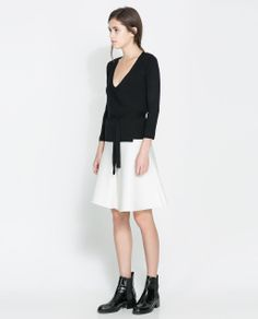 Image 1 of DOUBLE BREASTED JACKET WITH BOW from Zara